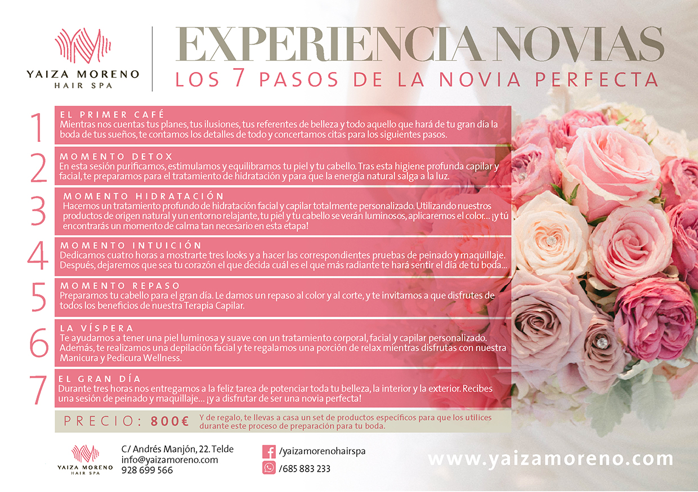 Experiencias novias en Yaiza Moreno Hair Spa, tu salón de belleza en Telde